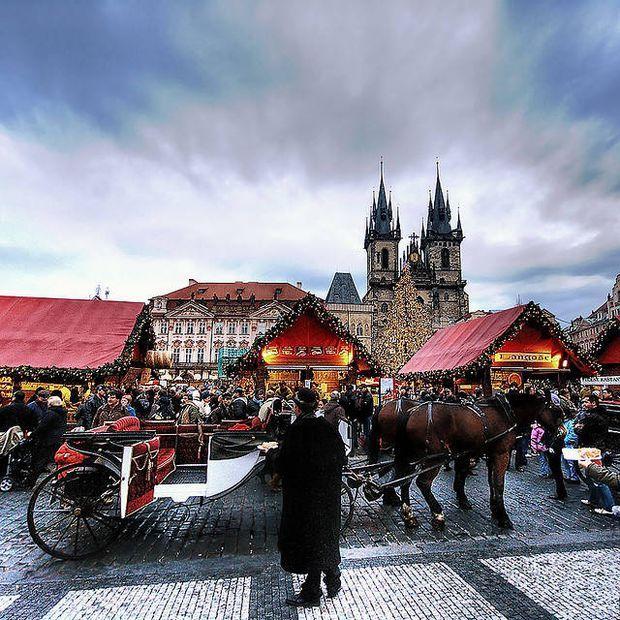 Prague, reine de Noël  Le patrimoine historique exceptionnel de Prague fait de la capitale tchèque l'une des plus belles capitales européennes des fêtes de fin d'année. Il suffit de traverser la place de la Vieille Ville (à l'image) pour s'en rendre compte. Au pied du superbe sapin traditionnel s'étendent de nombreux chalets savamment décorés, où l'on peut aisément trouver de quoi ...