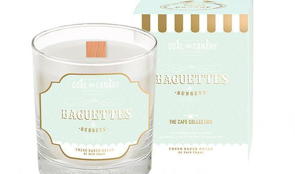 Inspired by nights spent watching the sunset with your best friend, carbohydrates! This candle features notes of fresh baked bread. Candle by Coal and Canary.
