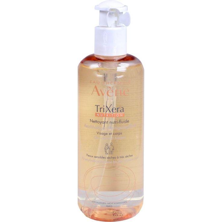 AVENE TriXera Nutrition reichhaltiges Reinig.fluid:   Packungsinhalt: 400 ml Gel PZN: 11370183 Hersteller: PIERRE FABRE DERMO KOSMETIK…
