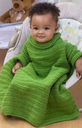 OMG... Crochet Baby Snuggle Up with Sleeves Crochet Pattern