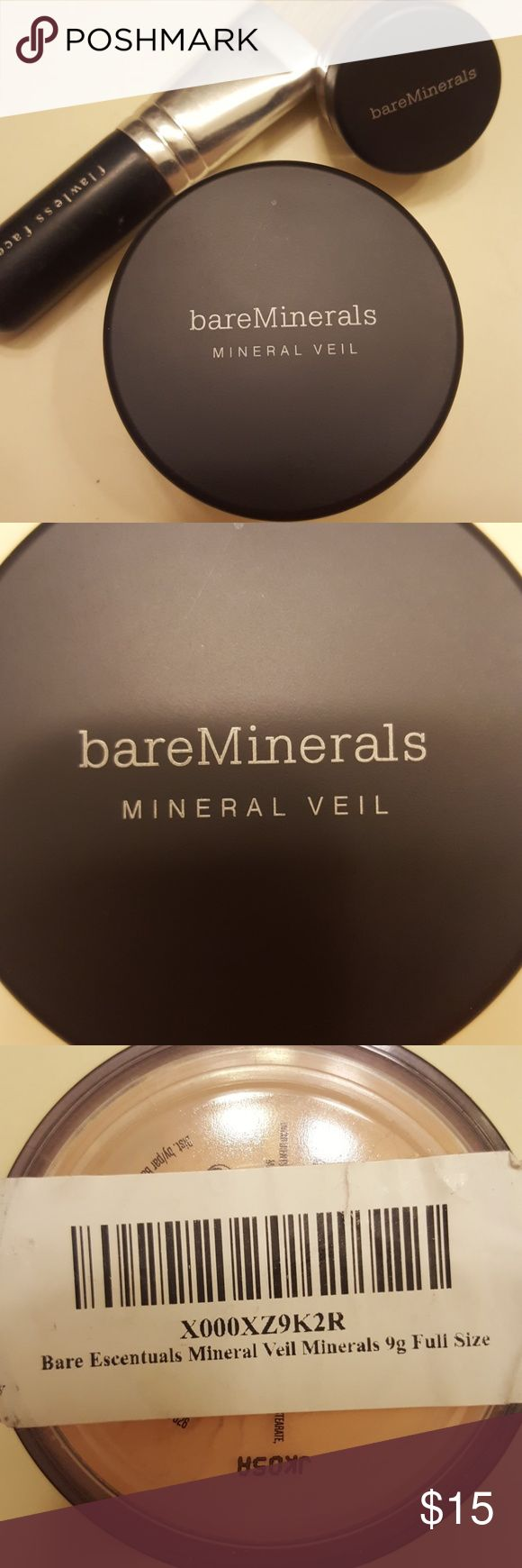 NWT! Bare Escentuals Mineral Veil NWT! BareMinerals Mineral Veil Purchased and didn't realize that I already had 3. No need for another at this time as I have plenty. Originally purchased through Amazon for about $19. Full Size 9g Bare Escentuals Makeup Face Powder