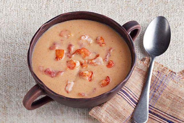 Sopa de camarones al estilo criollo de la Luisiana Receta