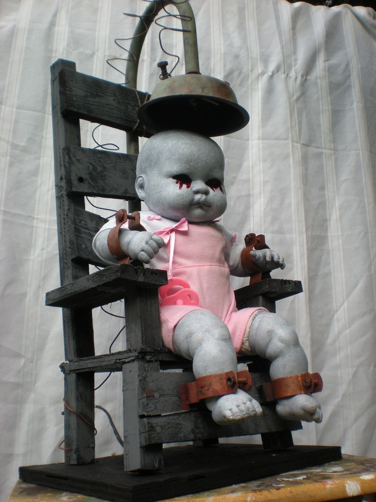 The orphanage of misfit babes collection. Life size electric chair with lightning effect lights.. $175.00, via Etsy.