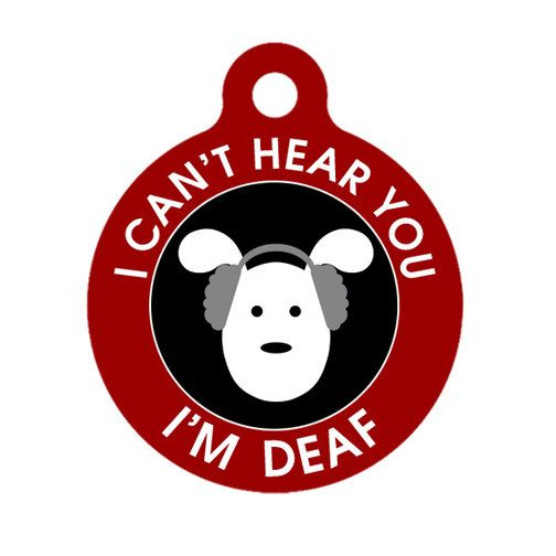 Deaf Medical Id Tag - Dog Medical Alert Pet Tag, ID Tag, Child ID Tag, Dog ID Tag