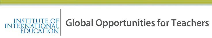 IIE. Global Opportunities for Teachers