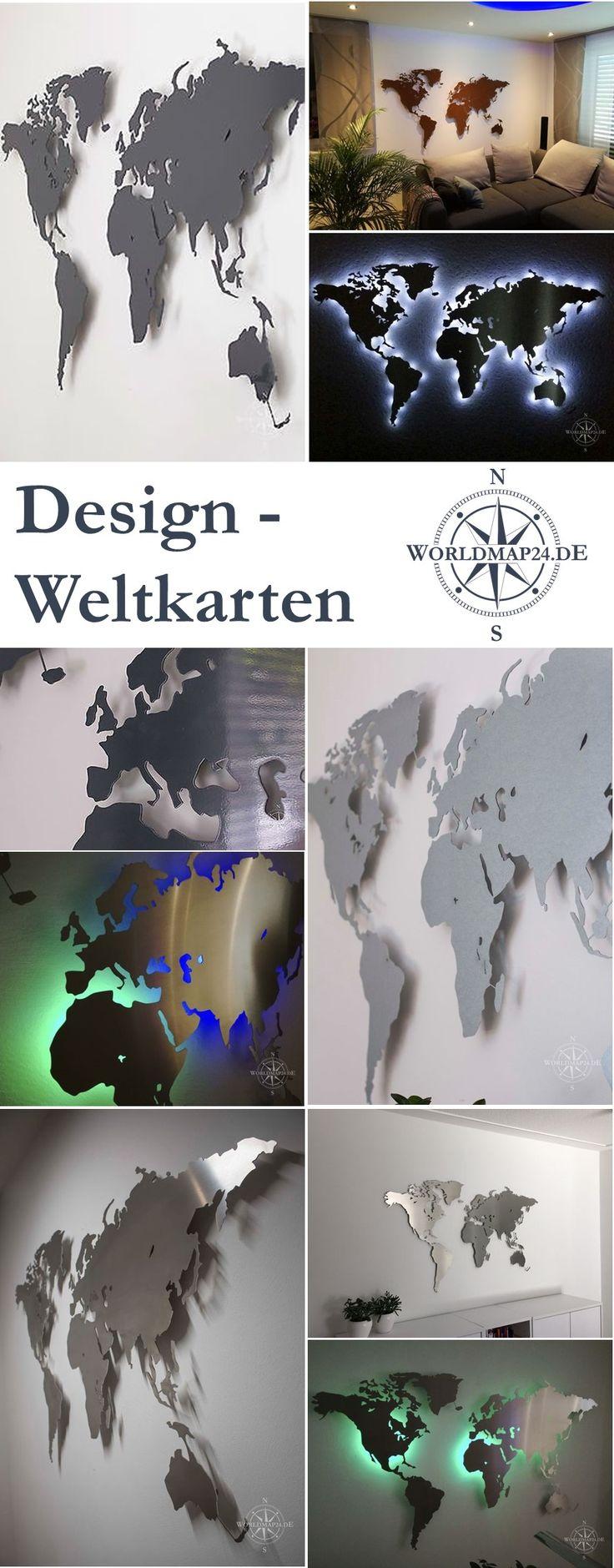 Cool Design Weltkarten f r die Wand
