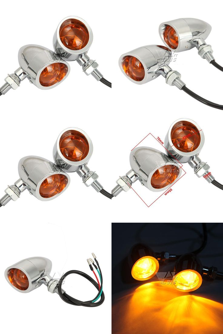 [Visit to Buy] Partol Bullet Motorcycle Turn Signal Light Indicator Lamp Flasher For Harley Sportster Electra Glide Chopper Bobber Cafe Racer #Advertisement