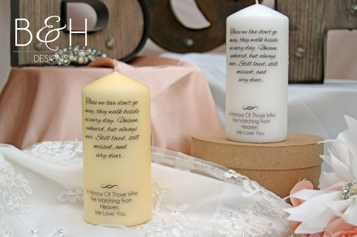 Wedding Memory Candle, Rememberance Candle, Personalized Candle, Wedding Memory candle, Wedding Rememberance Candle by BandHDesign on Etsy https://www.etsy.com/listing/256125838/wedding-memory-candle-rememberance