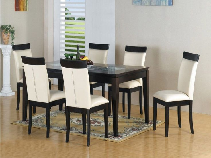 Dining Room Natural Set Wooden Table And Chairs Light Brown Color Wood Perfect