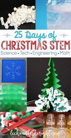 Here are 25 days of Christmas STEM activities: Christmas science, technology, engineering, and math activities to use this Christmas season. Use this as a Christmas countdown, advent calendar, or boredom buster!