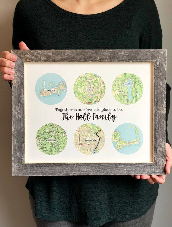 Father Gift Family Travels Print Birthday For Dad From Daughter Fathers Day Ideas Sentim