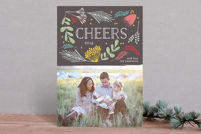 Cheers Floral by The Lovely Letters at minted.com