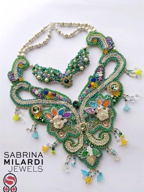 Collana  Garden Rhapsody di SabrinaMilardiJewels su Etsy