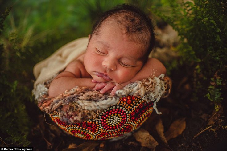 'A lot of the time though I use my newborn photography skills in getting the babies to sle...