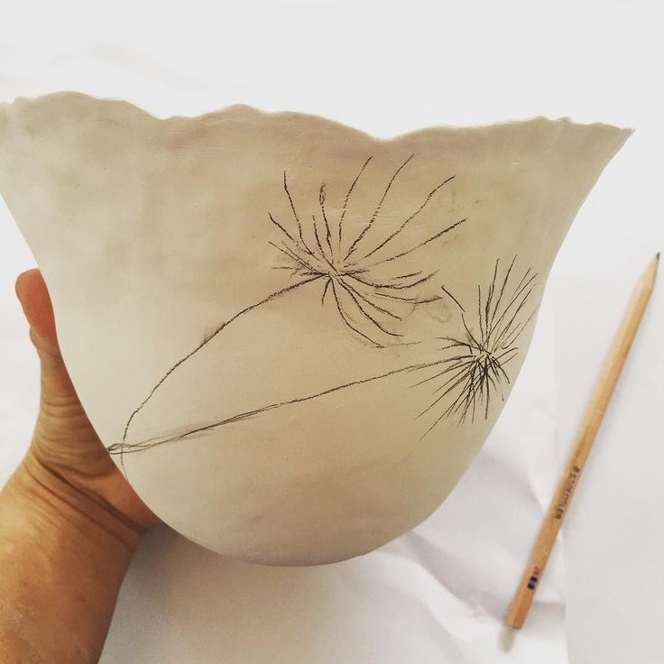 The first thing I do is sketch out on a bowl what I want to paint. Nicola Hart Studios www.hartstudios.com.au