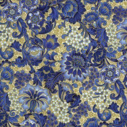 Robert Kaufman - Florentine APTM-5084-3 INDIGO by Peggy Toole