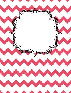 Binder Cover Printables