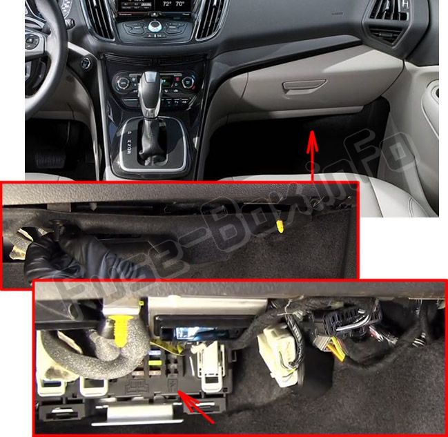 Ford Escape 2013 2019 Fuse Box Location Ford Escape Fuse