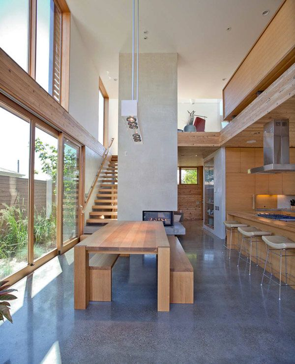 A Sense of Volume And Love For Wood: Modern House in Portland - Wood is one of the fine materials that never go out of trend. It's like the Little Black Dress in interior - it's both modern and classy. It could be bold and influential, but it could also be quiet and smoothing. But above all it's always warm and familiar - it establishes the essential connection between man and the environment.