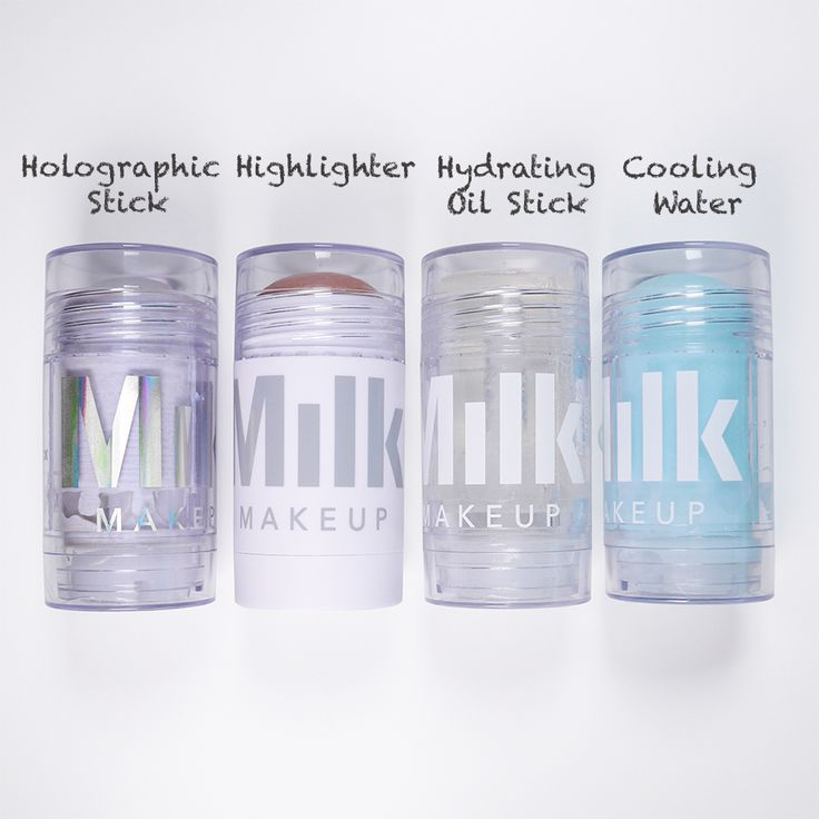 There's no milk in 'MILK Makeup' | MILK Holographic Stick, MILK Highlighter Stick, MILK Hydrating Oil Stick, MILK Cooling Water Stick - http://www.bagorgie.com/index.php?id=419