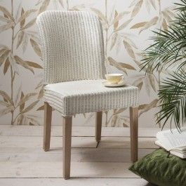 Becket Side #Chair White Contemporary Lloyd Loom Chair Finished In Vanilla  White And A Driftwood