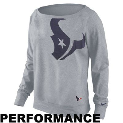 Nike Houston Texans Ladies Wildcard Epic Crew Sweatshirt - $64.95