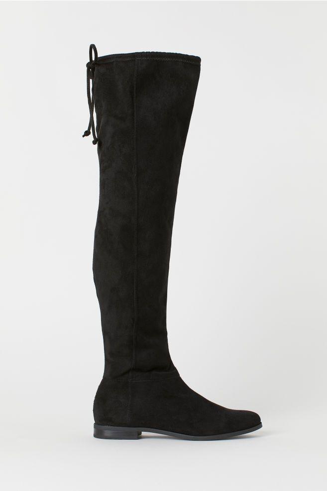 knehøye støvler