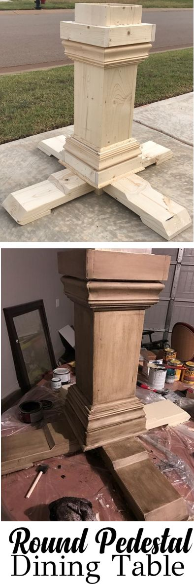 HOW TO Round pedestal farmhouse table annie sloan chalk paint old ochre