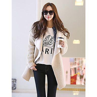 Women's Stylish Drep Stitch Cardigan #koreanfashion #tomnrabbit #crgang