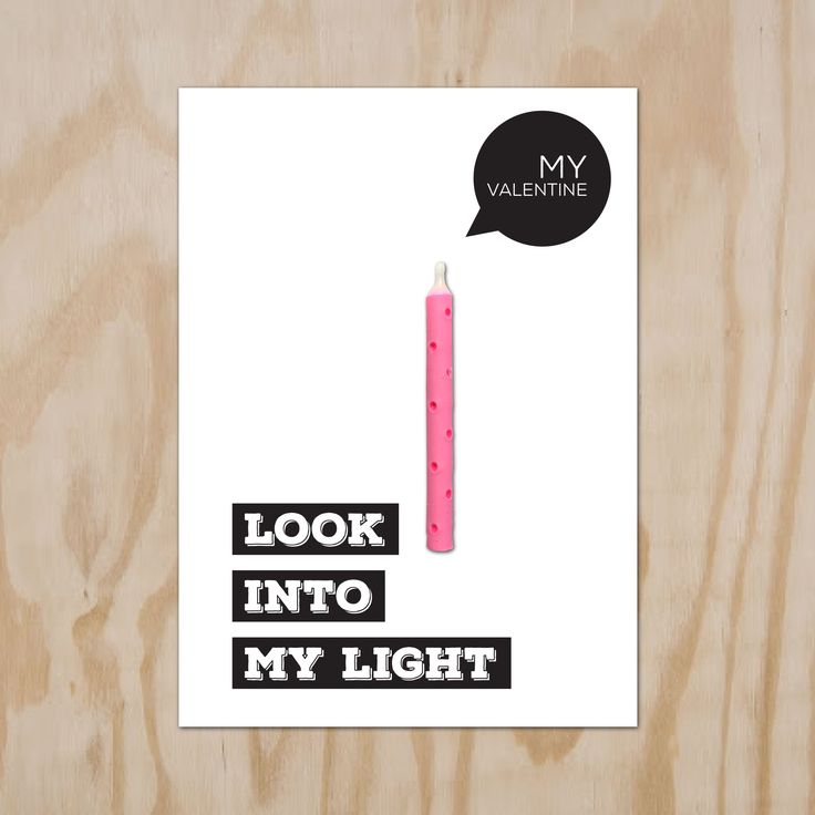 #Valentijkaart. #Valentine Candle Card, look into my light.