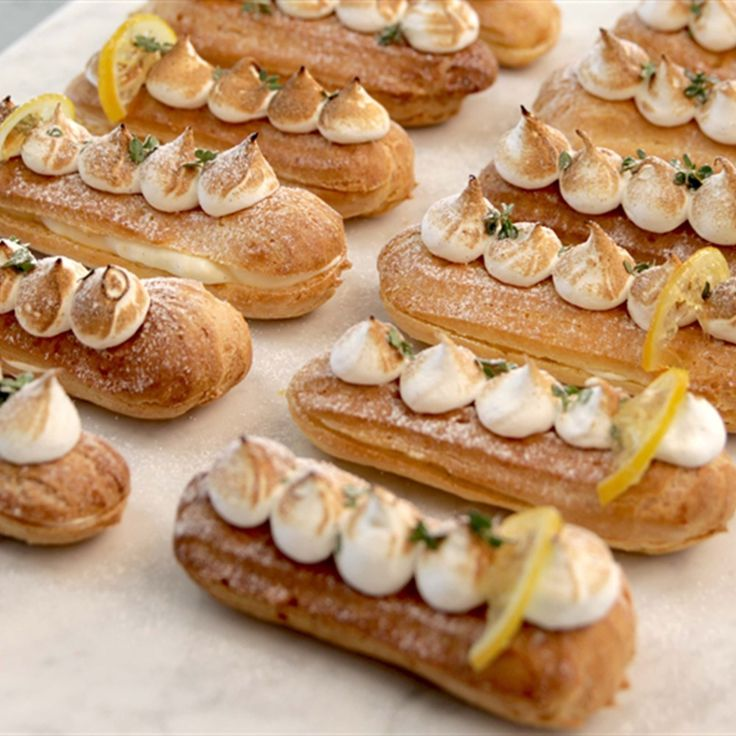 Try this Lemon Meringue Éclairs recipe by Chef Sian. This recipe is from the show The Great Australian Bake Off.