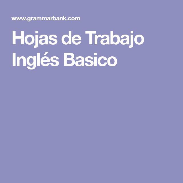 Hojas de Trabajo Inglés Basico
