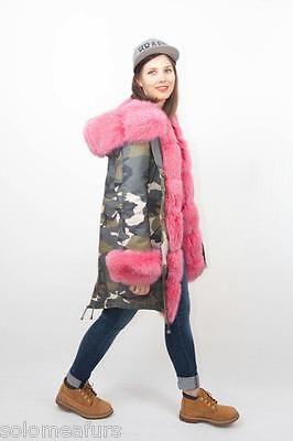 новый зимний женщин военного парка пальто куртка Arctic Fox реальный мех класса без Норка