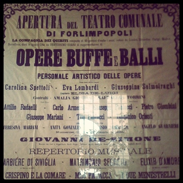 @Elizabeth Ann Locandina Teatrale, Forlimpopoli by Turismo Emilia Romagna, via Flickr