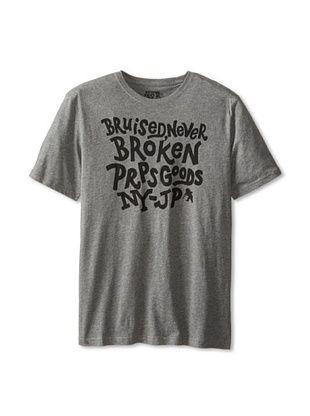 40% OFF PRPS Men's Slogan Tee Shirt (Grey Melange)