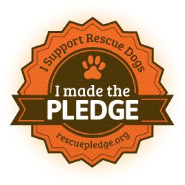 Pledge your support for rescue shelters and change the way the world sees homeless dogs. Pledge to make your next dog a rescue dog.