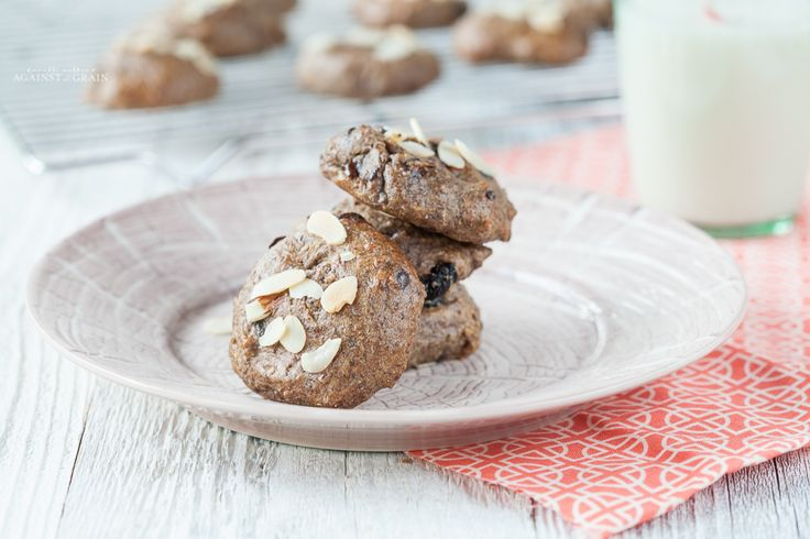 A Paleo and gluten-free Almond Cherry Power Cookie Recipe. With almonds, chia seeds, flaxseed, and dark chocolate, these cookies are a powerful bite!