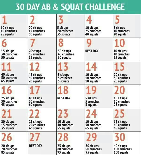 Squat/sit up/crunch challenge. .!! Lo debo lograr