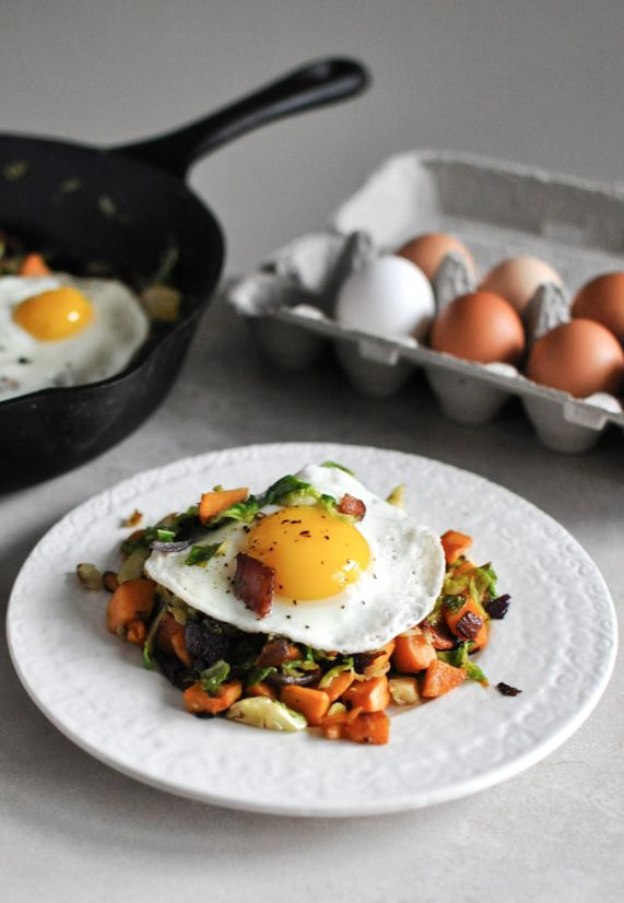 Brussels Sprouts Breakfast Hash--the tastiest way to get some #veggies ...