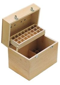 essential oil storage box - really like that it has room for larger bottles of carrier oils