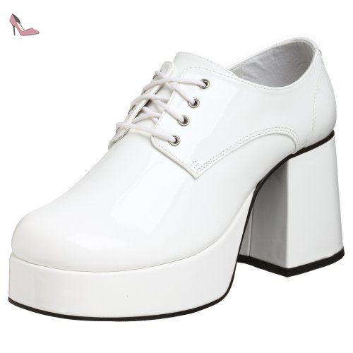 Pleaser Jazz-02, Oxford homme, Blanc (White), 42-43 EU - Chaussures pleaser (*Partner-Link)