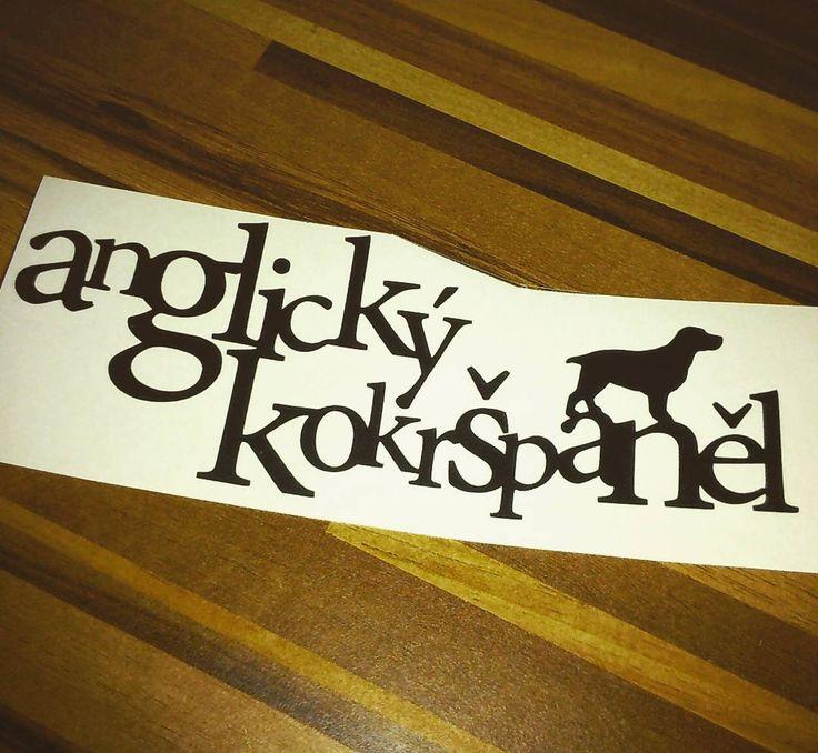 Nákepka | Sticker #anglickykokrspanel #anglickykokr #kokrspanel #nalepka #sticker #nalepkanaauto #carsticker #cuttedsticker #rezananalepka #obojkyblackberry.cz #obojkyblackberry @esjedna