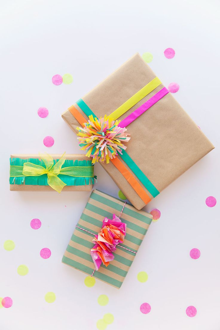 Tissue paper wrapping ideas.
