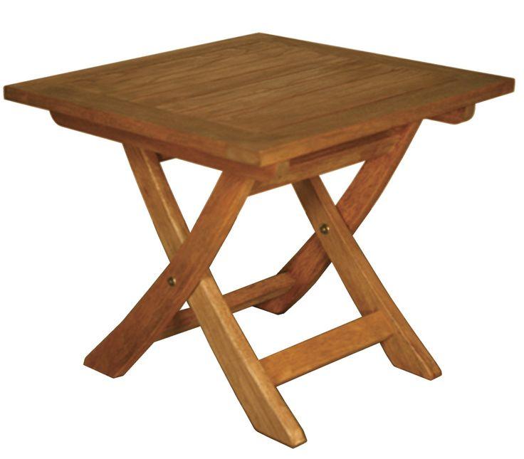Terrace Mates Aspen Folding Square Side Table
