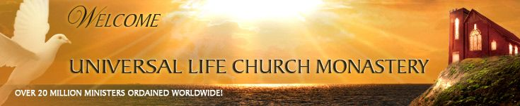 Become a minister and wedding officiant, get ordained online free by the Universal Life Church Monastery