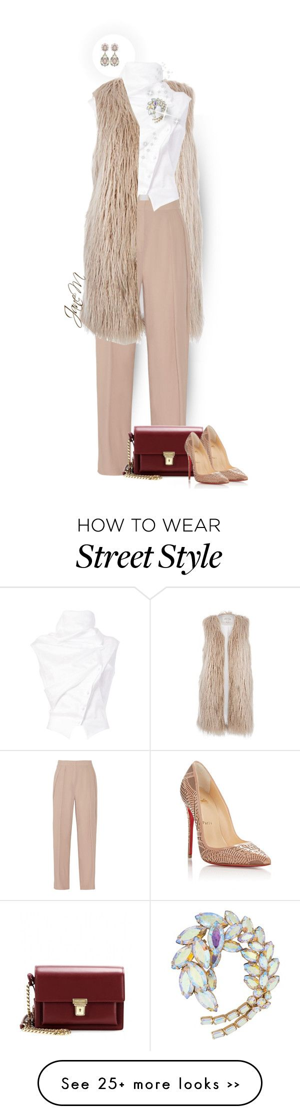 """""""Street style"""" by janemichaud-ipod on Polyvore featuring River Island, By Malene Birger, Aganovich, Susan Caplan Vintage, Yves Saint Laurent and Christian Louboutin"""