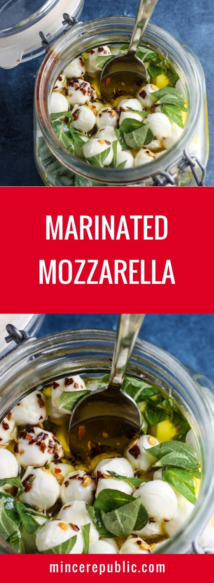 Marinated Mozzarella recipe | marinated cheese perfect for a cheese plate or charcuterie platter | mincerepublic.com