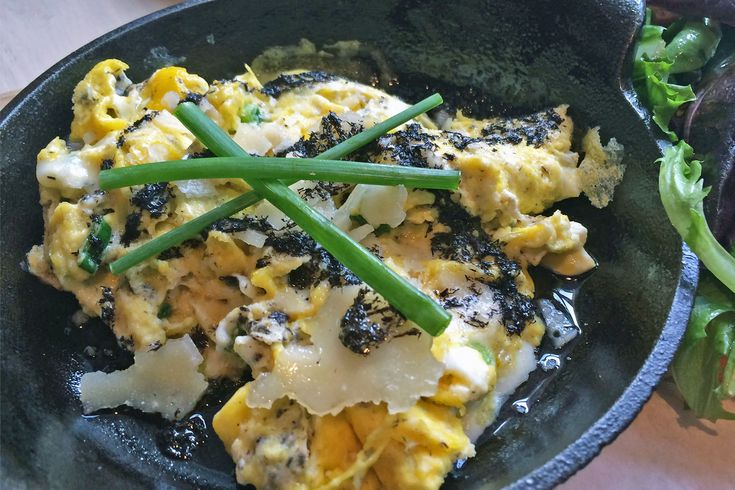 Truffle Mushroom Fontina Scrambled Eggs