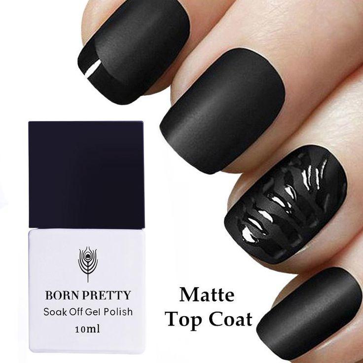 1 Bottle BORN PRETTY Matte UV Top Coat 10ml No Wipe Soak Off Nail Art Gel Polish…