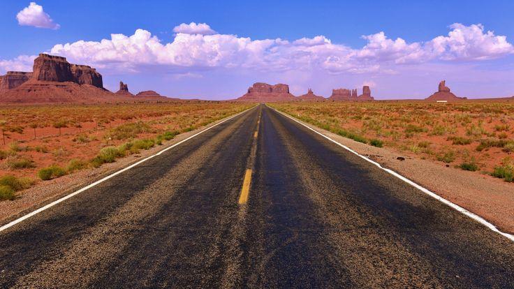 Дорога в Долине Монументов, Штат Аризона